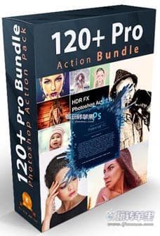 GraphicRiver 120+ Pro Photoshop Action Bundle 下载 – PS动作插件合集